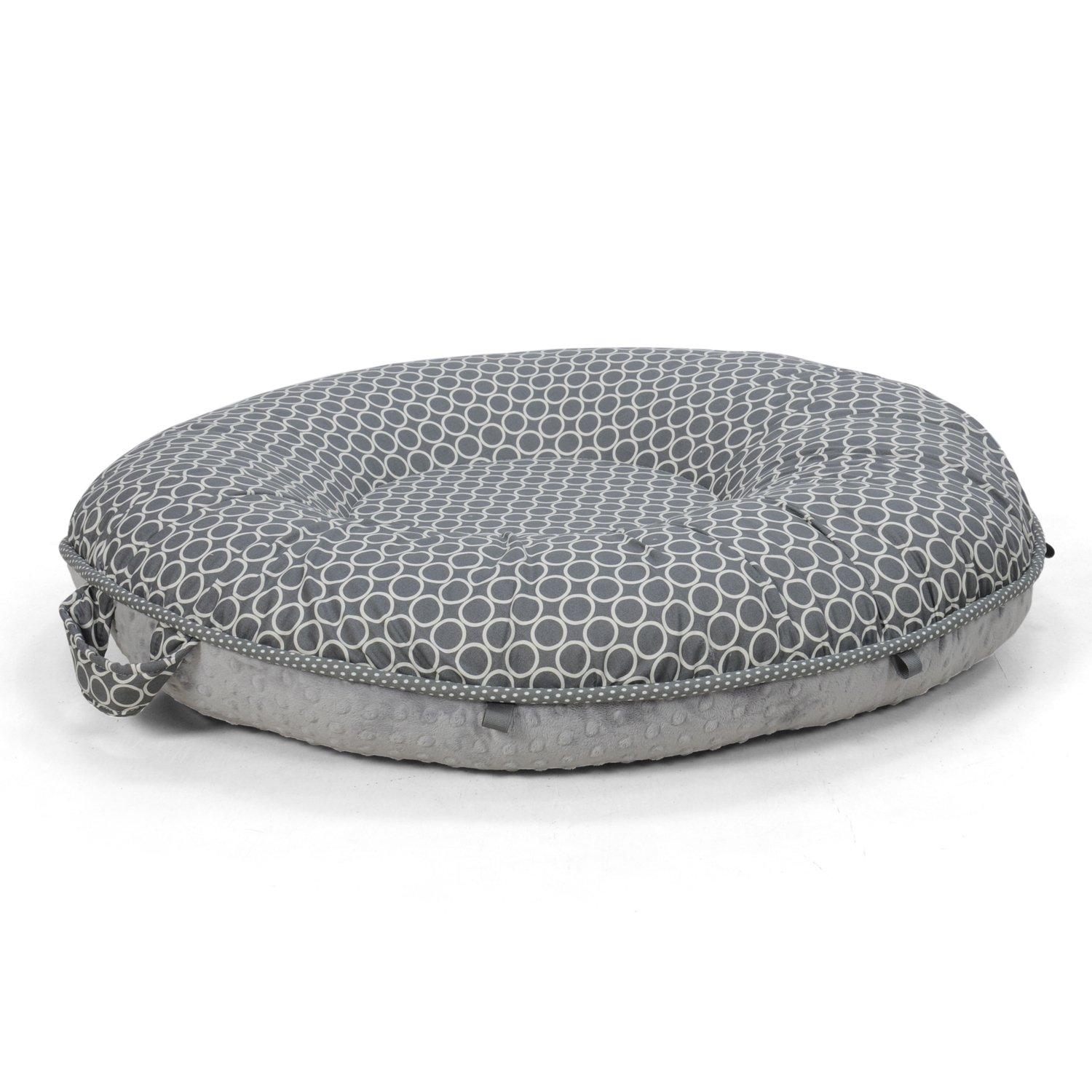 Pello Multi-use Luxe Baby-Toddler Floor Pillow/Play Mat/Lounger (Majestic/Gray)