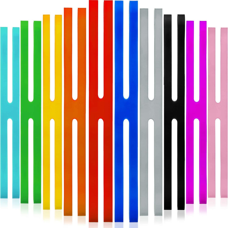 Cucina Macchine Fotografiche Involucri di Borsa Avvolgimento Arte Esercizio 10 Pezzi 9 Pollici Elastici in Silicone H-Bande Colori Assortiti Elastici di Gomma Fasce da Imballaggio per Libri