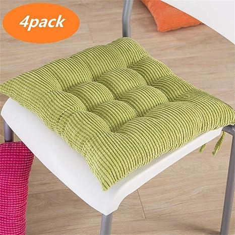 Amazon.com: SNAFUL - Cojín para silla de comedor, cuadrado ...
