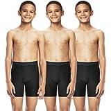 DEVOPS Boys Performance Active Boxer Briefs Underwear Shorts (3-Pack)