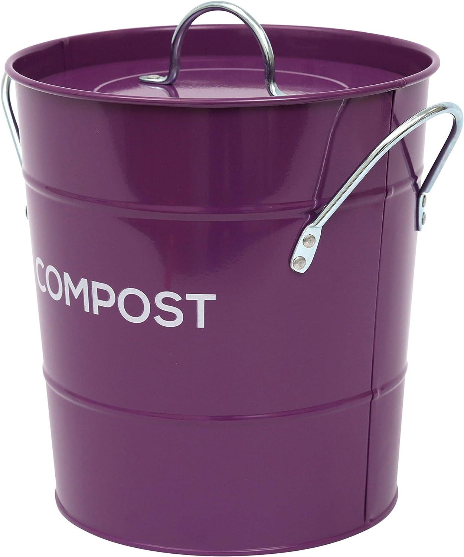 The Caddy Company Cesta de Metal para compostaje de Cocina, para ...