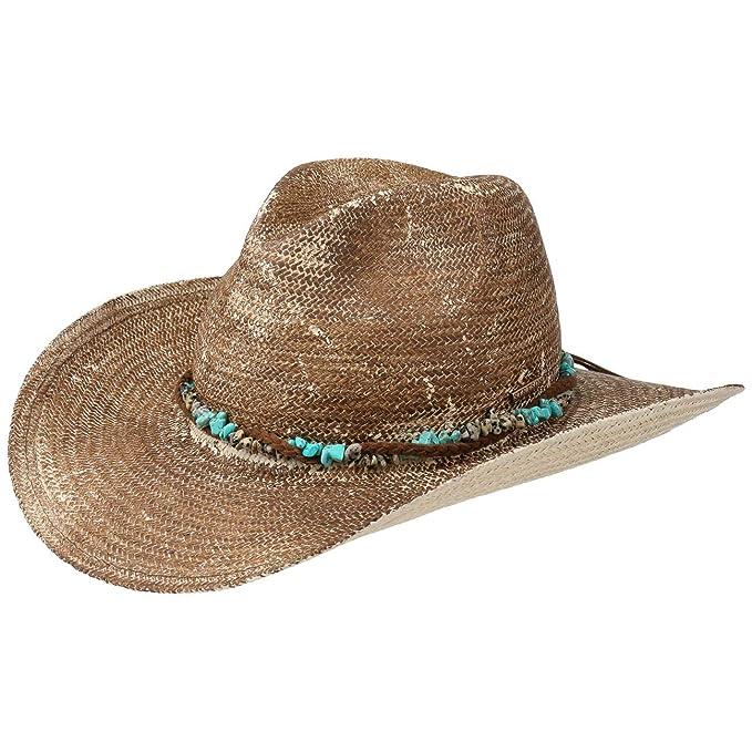 38299a530 Stetson Sombrero de Paja Lillian Western Mujer | Playa Sol  Primavera/Verano: Amazon.es: Ropa y accesorios