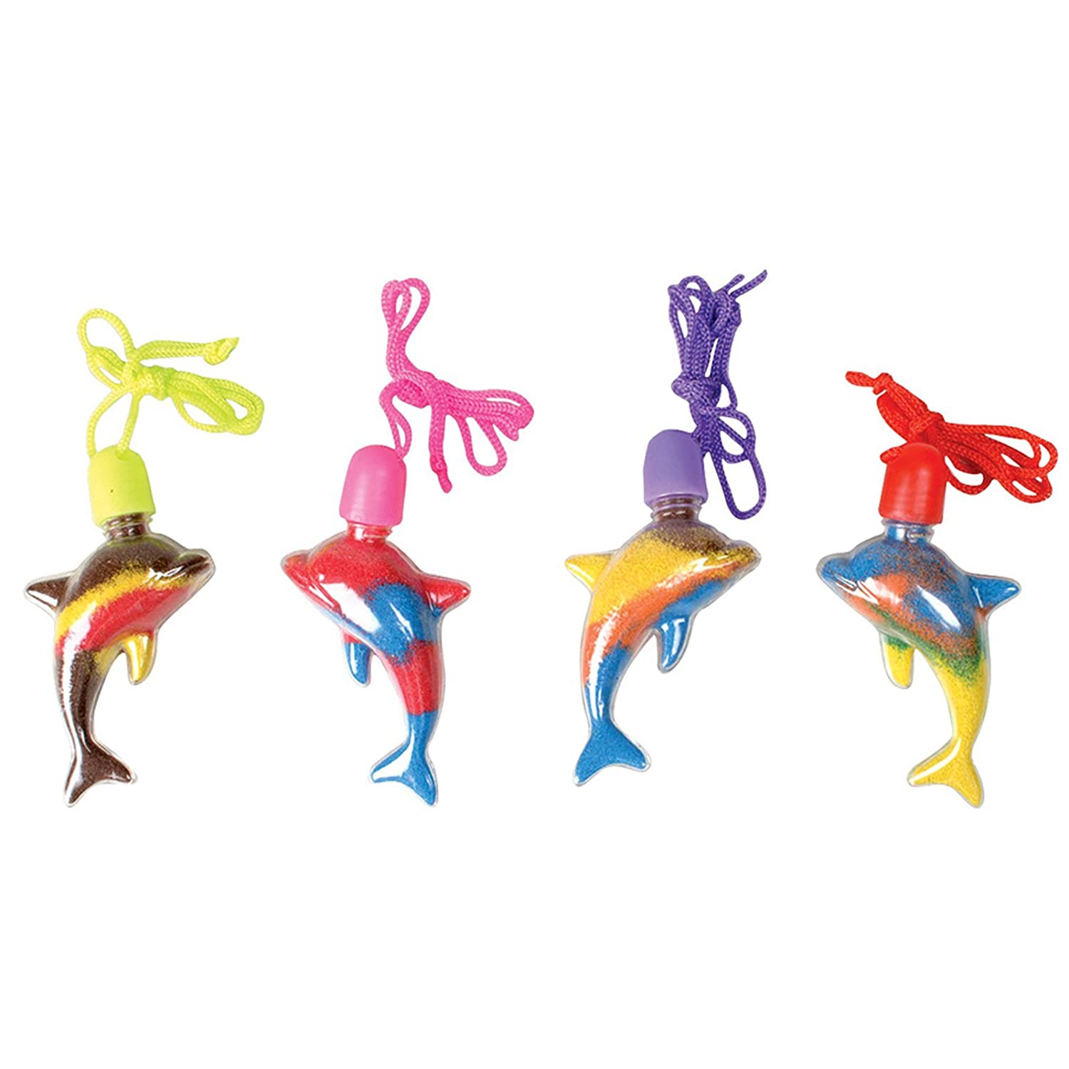 Rhode Island Novelty Dolphin Sand Art Necklaces