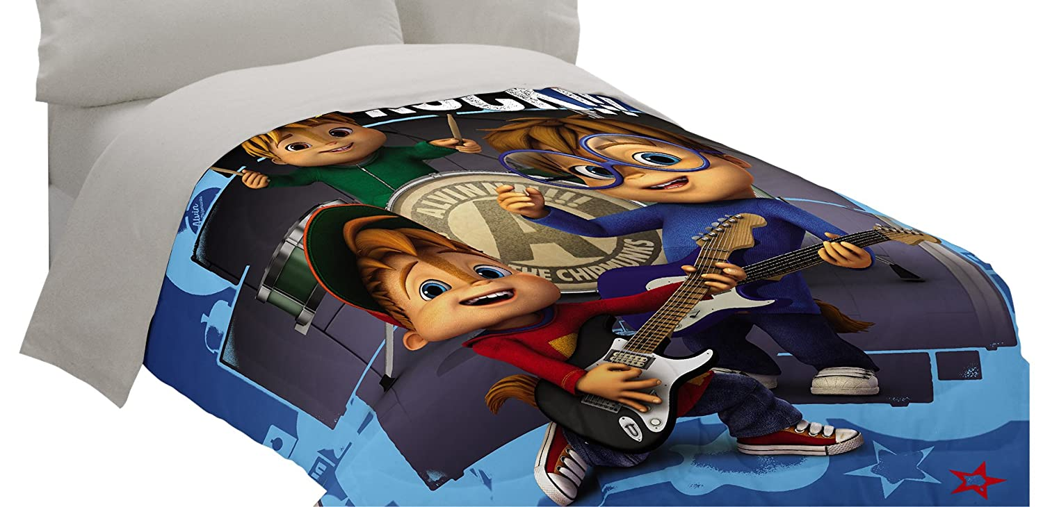 Amazon.com: Bagdasarian Productions Alvin and The Chipmunks School of Rock Twin/Full Comforter: Home & Kitchen