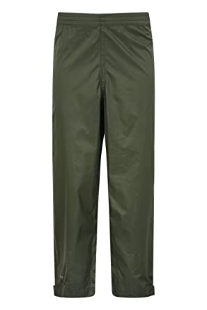 d6dec5d7cd954 ... Kids Waterproof Overtrousers - Taped Seams Trousers, Ankle Adjuster  Pants, Breathable Childrens Packable Pants - for Wet Weather: Amazon.co.uk:  Clothing