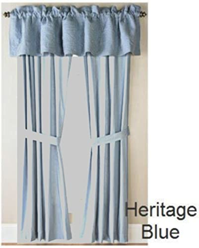 Rosedale Solid 84 x 19 Valance 100 Heavy Cotton Fully Lined Blue