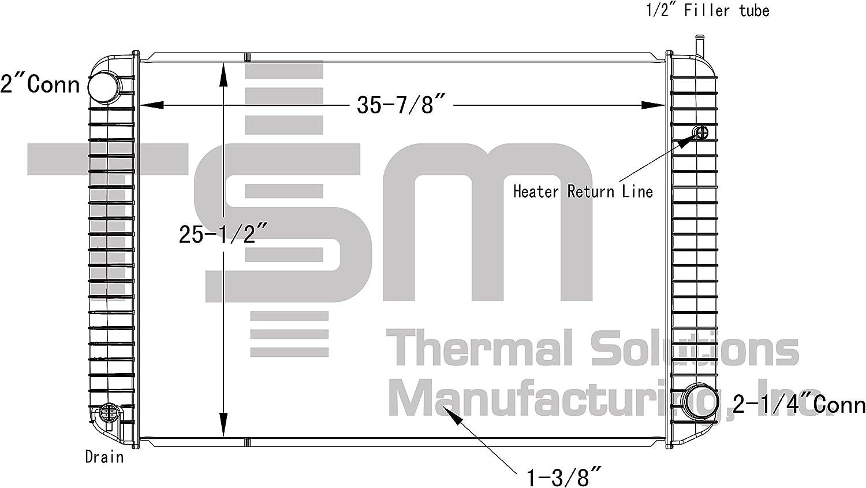 1991 gmc topkick wiring diagram amazon com tsmusa plastic tank radiator for chevrolet gmc 91 02  tsmusa plastic tank radiator