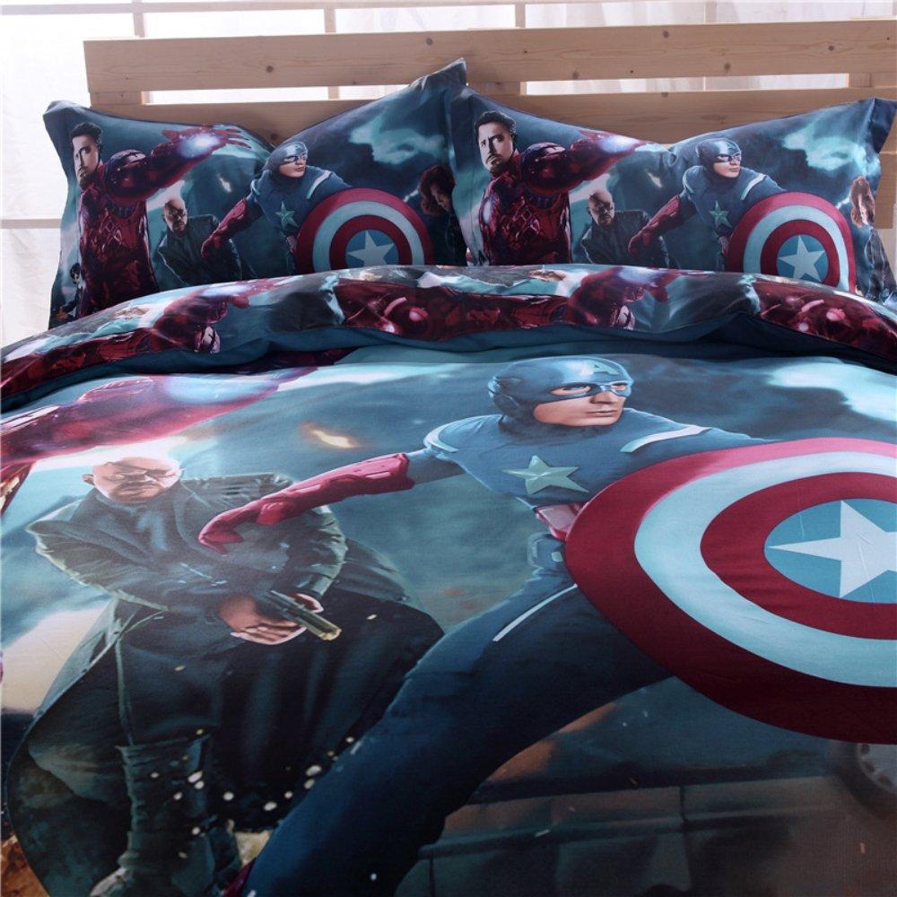 Amazon.com: Super Heroes Bedding Set Twin Queen King Size ...