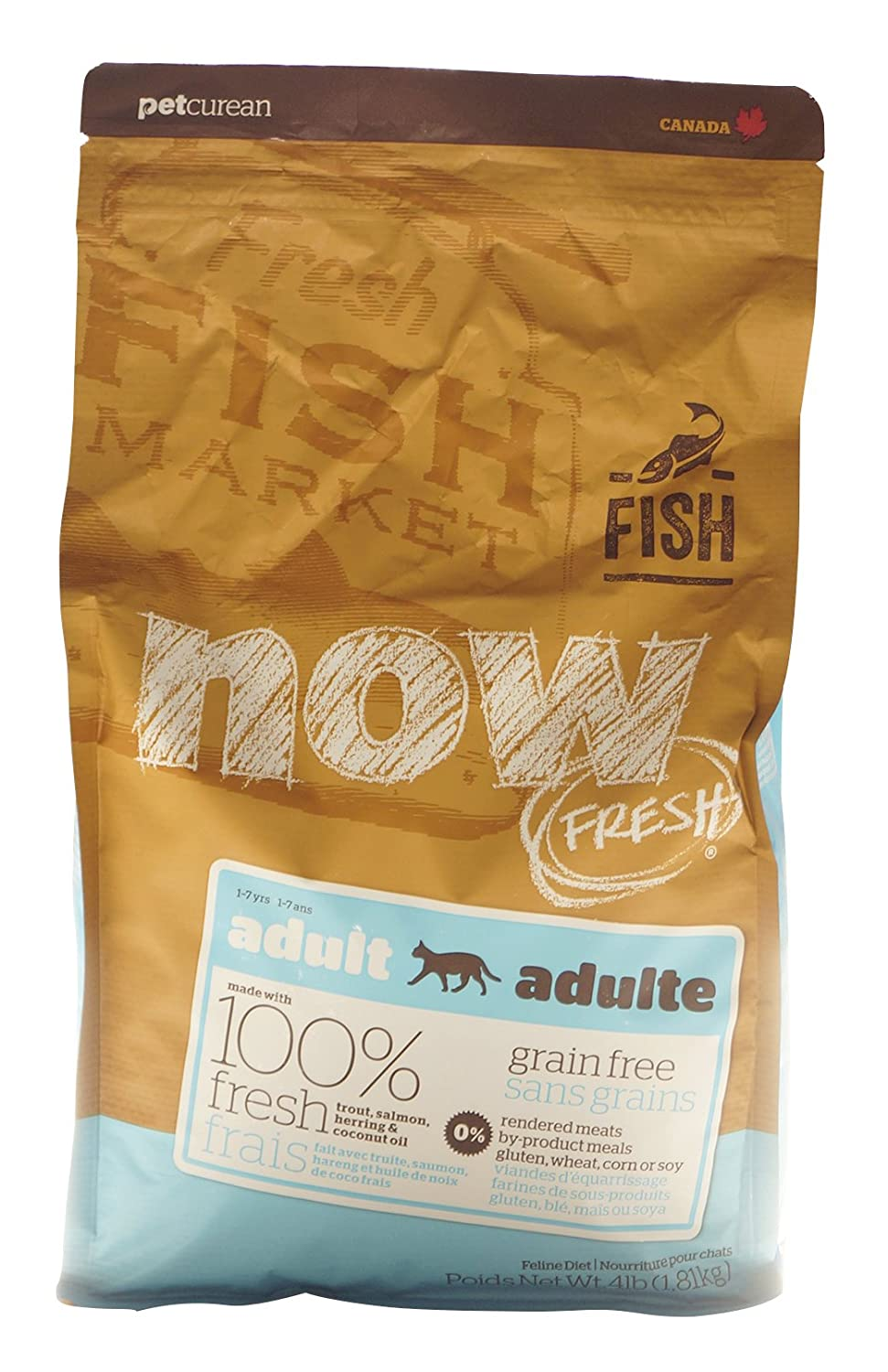 Now Fresh Grain Free Fish Adult Recipe Cat Food 4lb