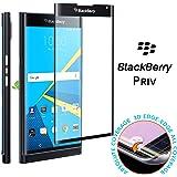 conmdex Blackberry priv Protection d'écran en verre trempé [Film de protection d'écran pour Blackberry priv] 3D Housse intégrale, anti-scrath, Air 3D Noir (Noir)