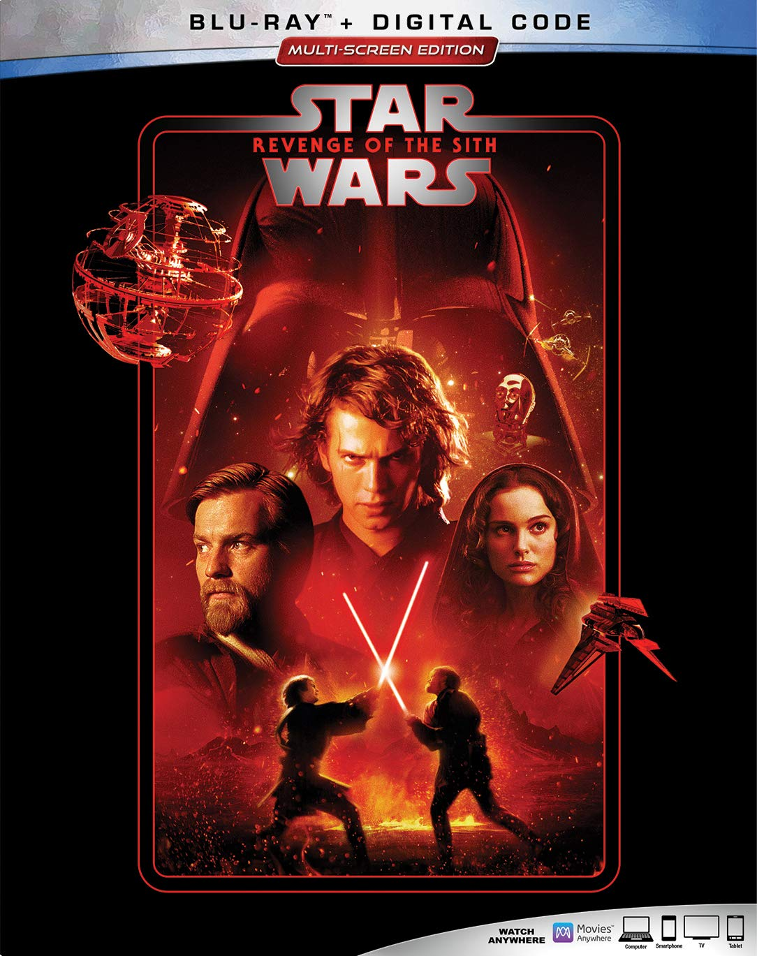 Amazon Com Star Wars Revenge Of The Sith Blu Ray Ewan Mcgregor Natalie Portman Hayden Christensen Ian Mcdiarmid Frank Oz Jimmy Smits Peter Mayhew Ahmed Best Oliver Ford Davies Temuera Morrison Anthony Daniels Silas