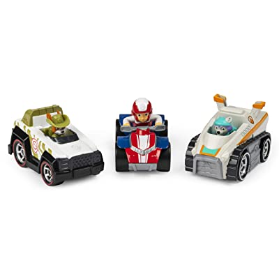 Paw Patrol, True Metal Classic Pack of 3 Collectible DIE-CAST Vehicles, 1: 55 Scale, Multicolor: Toys & Games