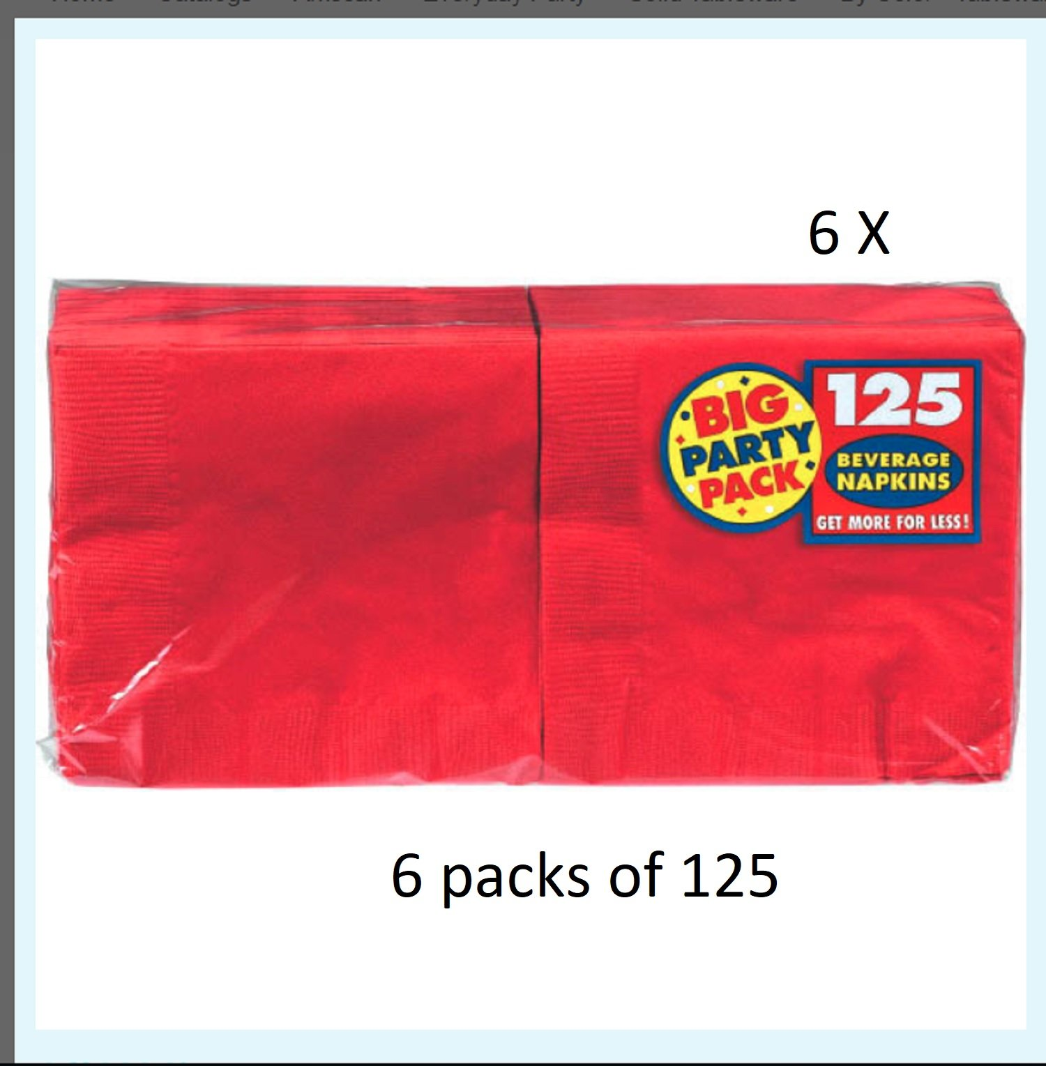 Amscan Apple Red Luncheon Napkins Big Party Pack, 6 Pk.