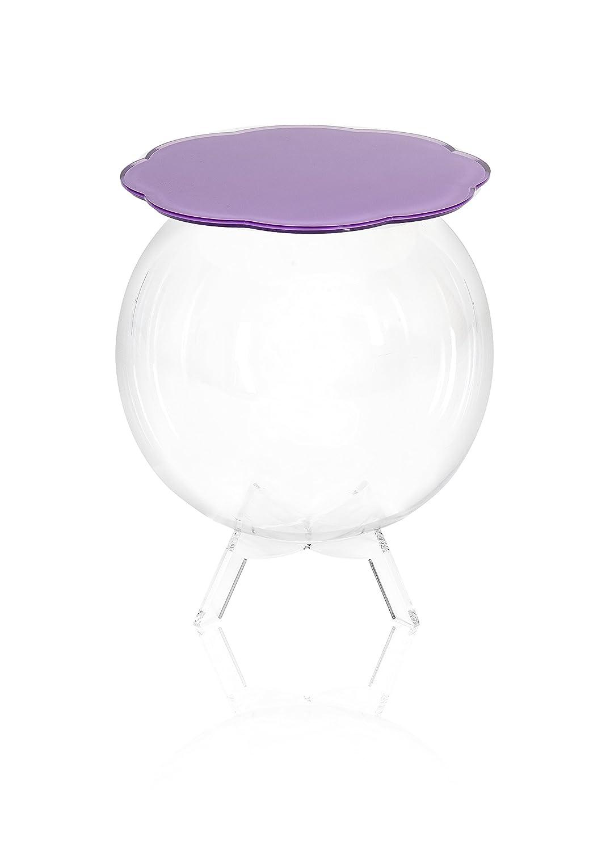 Iplex Design Bollino Tavolino/Comodino Contenitore, Plexiglass/PMMA, Lavanda/Trasparente I00206092X10 I00206092X10_lavandaetrasparente