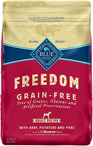 Blue Buffalo Freedom Grain Free Natural Adult Dry Dog Food, Beef