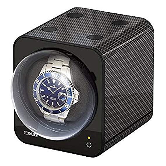 Boxy Professional esRelojes Movimiento Vitrina Carbon 1Amazon Fancy 354SLcARjq