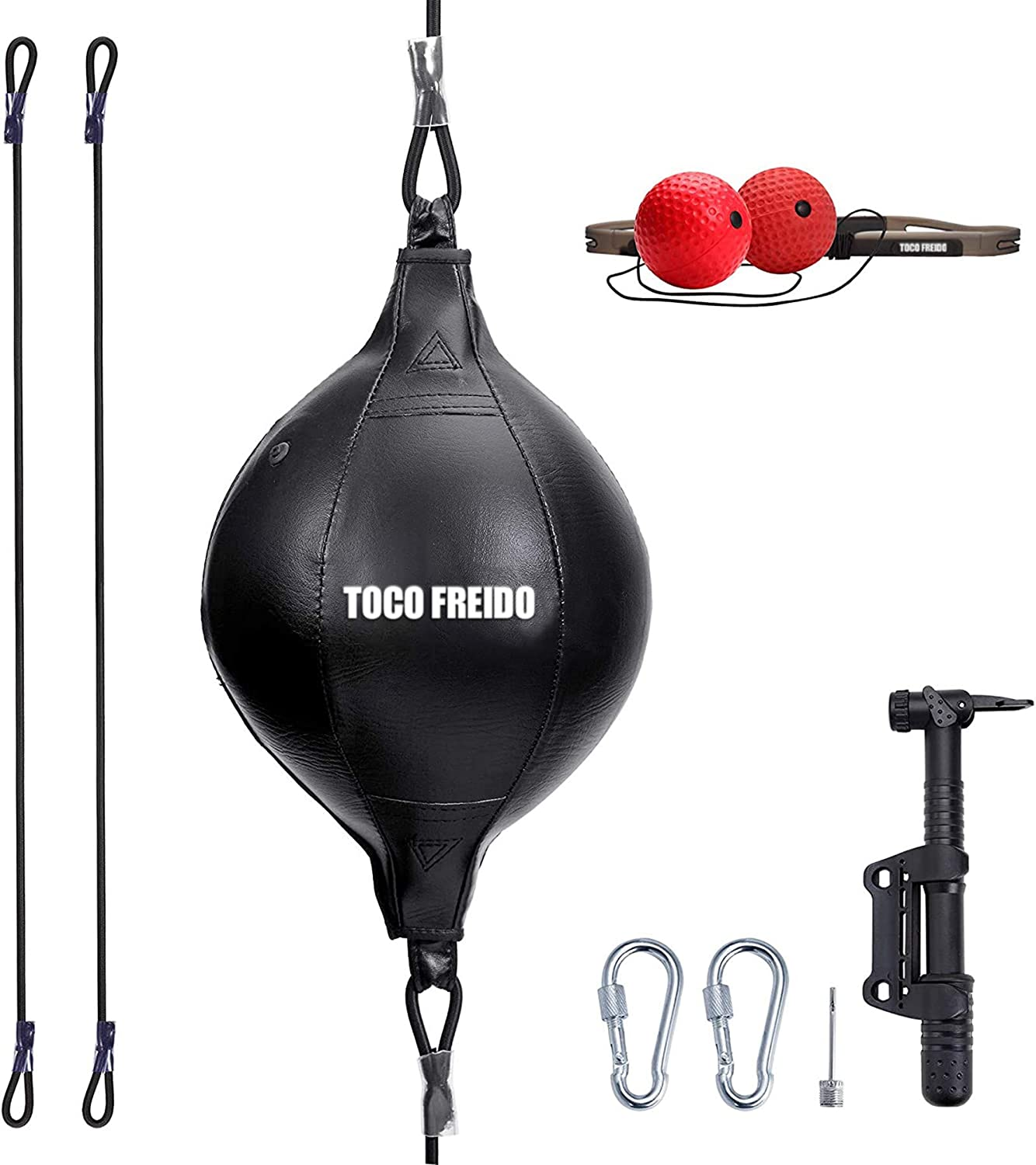 TOCO FREIDO Double End Punching Ball with 2 Boxing Reflex Ball, Pump, Headband, Perfect for Gym MMA Boxing Sports Punch Bag Adult Kids Men Women : Sports & Outdoors