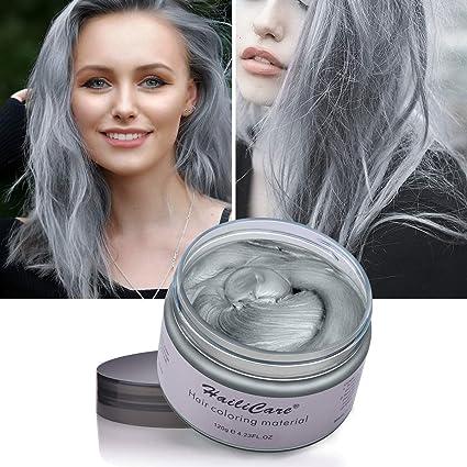 Hailicare 120g Silver Ash Grey Hair Wax Men Women Professional