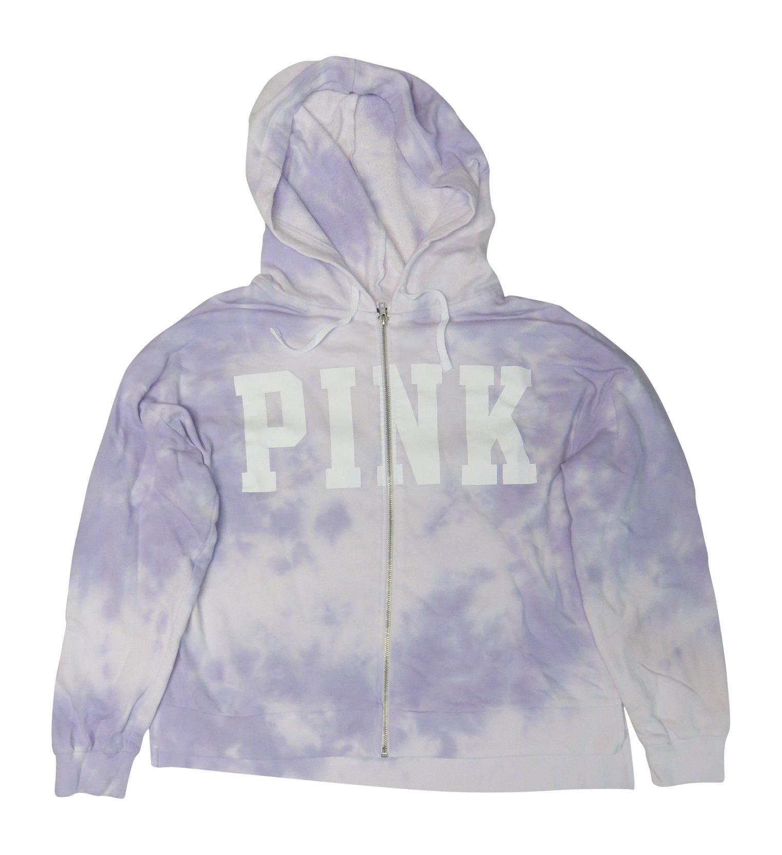 Victoria Secret Co. Victoria's Secret Pink Womens Full Zip Hoodie Purple, Large