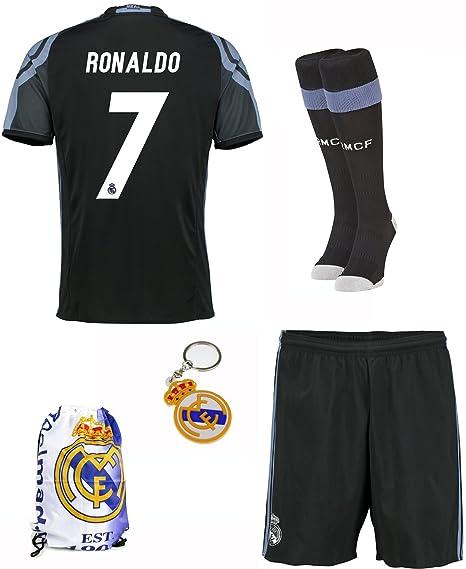 2016/2017 Real Madrid Tercer lejos # 7 RONALDO fútbol niños Jersey y pantalones cortos