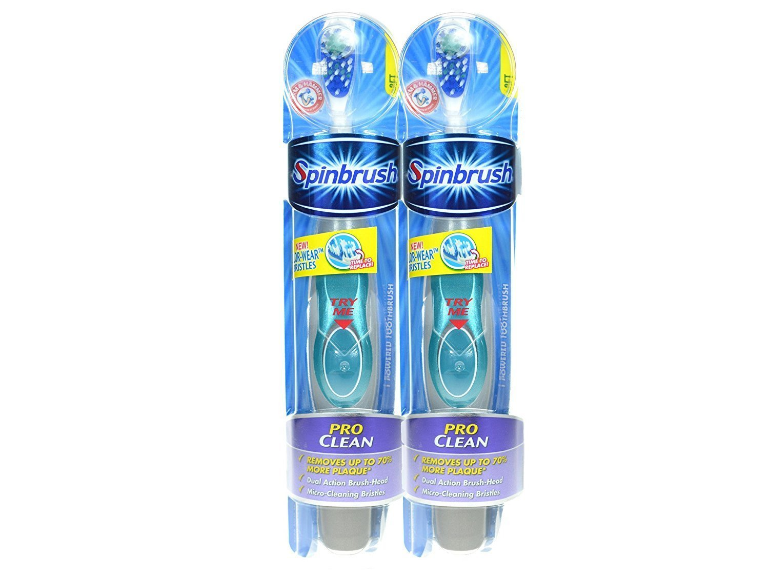 Arm & Hammer Spinbrush Pro Clean Soft Powered Toothbrush (Pack of 2)