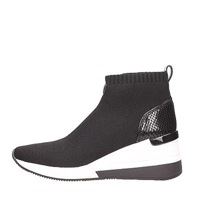 b6ea147e7a8c Michael Kors Skyler Knitted Wedge Sock Trainers UK 3 Black  Amazon ...