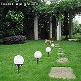 Luz Solar para Jardín - Paquete De 4 Luz Blanca Luz De Césped De Bola Redonda Accionada por Energía Solar - Luz De Suelo Impermeable Al Aire Libre para Pasto De Césped Decoración Al Aire Libre Uso