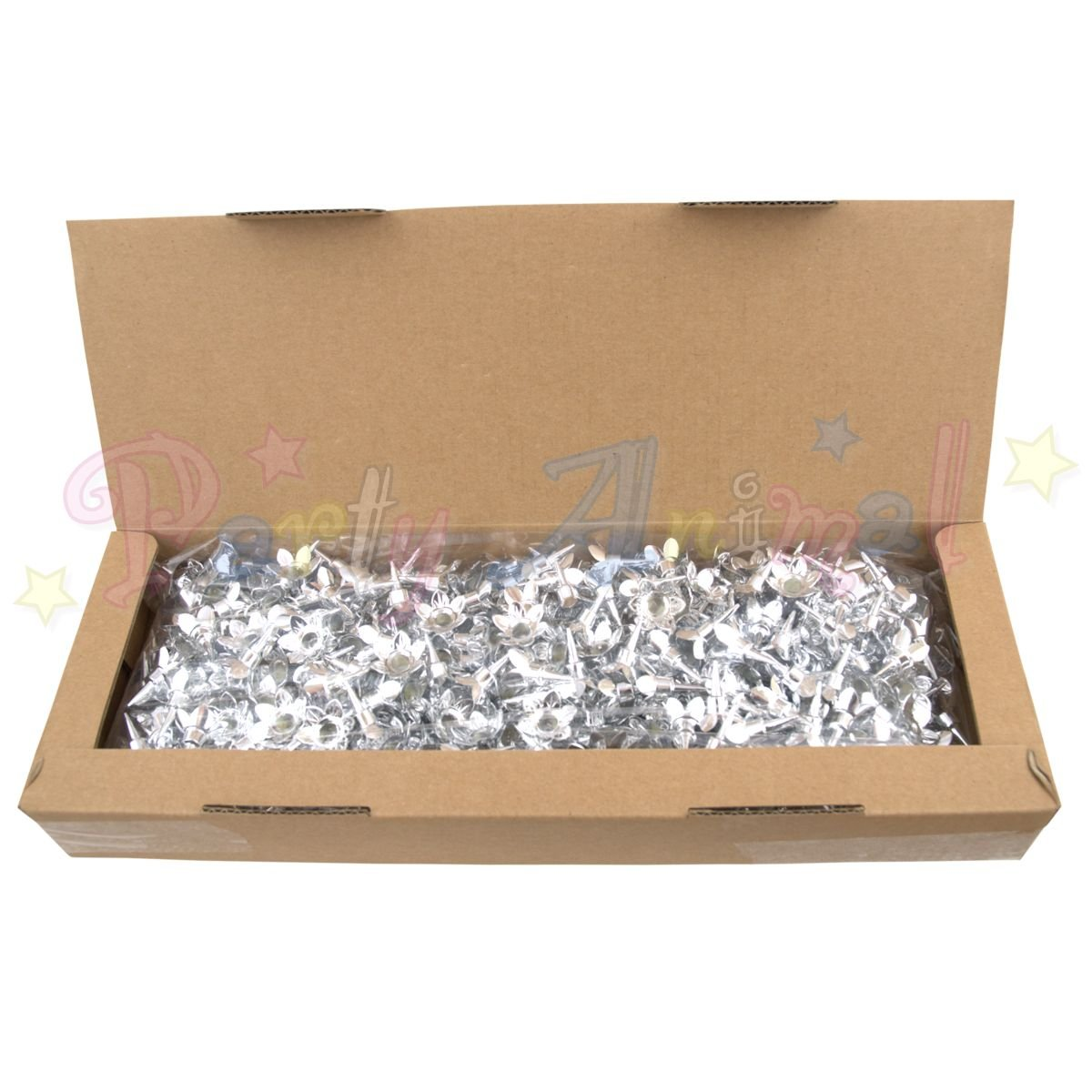 Bulk Pack of Plain Birthday Candles or Holders - Packs of 500 - Cake decoration accessories (Silver Candle Holders)