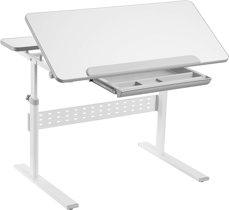 FD FUN DESK Colore Grey Sch/ülerschreibtisch h/öhenverstellbar Kinderschreibtisch neigungsverstellbar Grau 950 x 660 x 540-760 mm