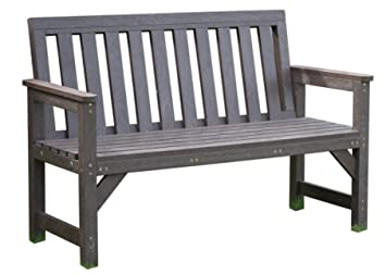 Outdoor Seat Bench Garden Furniture Brown 2 Seater 100% Recycled ...