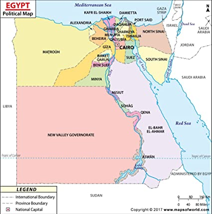 Jordan Political Map.Amazon Com Egypt Political Map 36 W X 36 39 H Office Products