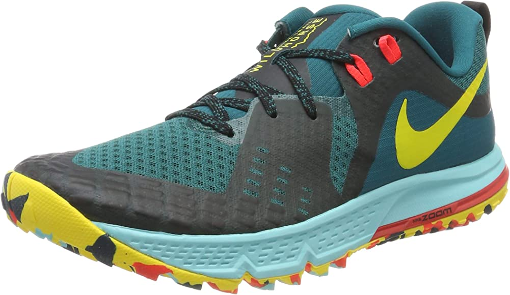 Nike Air Zoom Wildhorse 5, Zapatillas de Trail Running para Mujer, Multicolor (Gde Teal/Chrome Yellow/Black 301), 36 EU: Amazon.es: Zapatos y complementos
