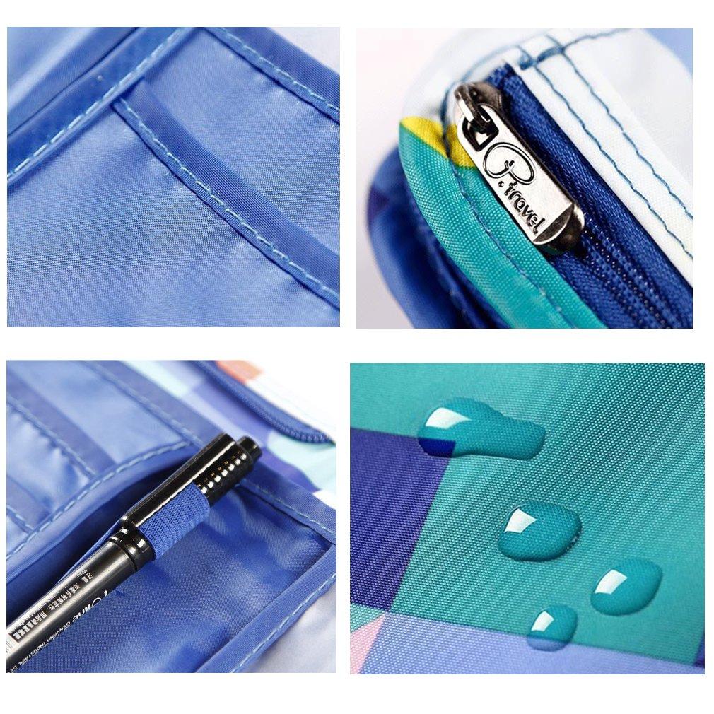 Passport Wallet Holder for Men/&Women,RFID Blocking Travel Waterproof Credit Card/&Money Bag Multifunctional Family Storage Organizer