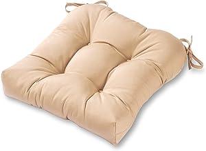 Greendale Home Fashions AZ4800-STONE Sanddollar 20-inch Outdoor Dining Seat Cushion