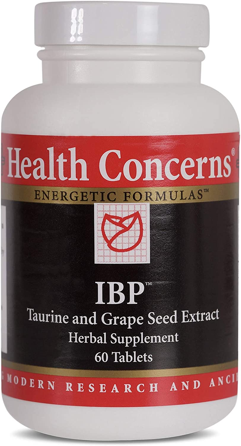 Health Concerns – IBP – Taurine and Grape Seed Extract Formula – Chinese Herbal Supplement – Blood Pressure Support – with Taurine – 60 Tablets per Bottle