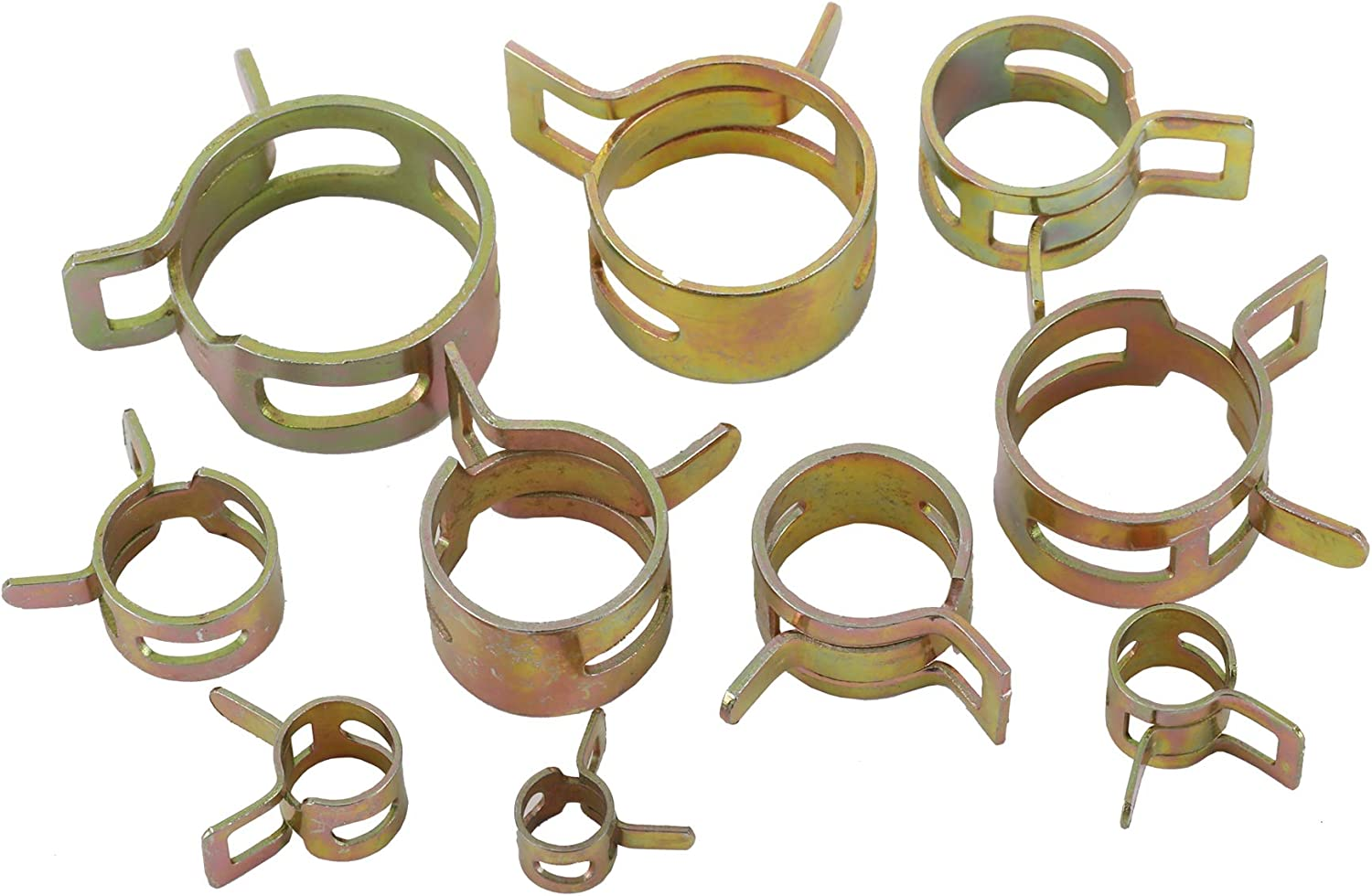 10 Sizes Fuel Line Spring Clamp Hose Pipe Clamp Fasteners AuInn 100 PCS 6-22MM Spring Hose Clamp Kit 6mm 8mm 10mm 12mm 14mm 15mm 16mm 18mm 20mm 22mm