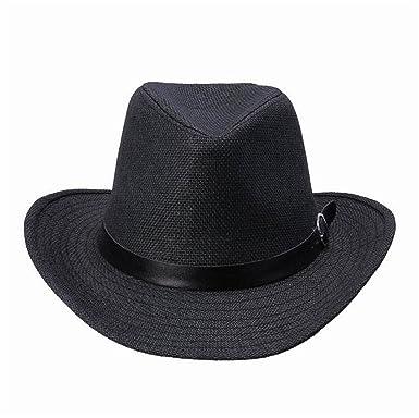 996c6d8062a HCIUUI Summer Style Wide Brim Sun Hat Beach Sunhat Fedora Hat Trilby Straw  Panama Hat boy