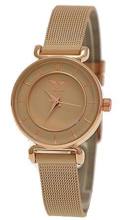 Ny Bracelet Beige Élégante Montre Femme Crème Londres Y67vbfgy
