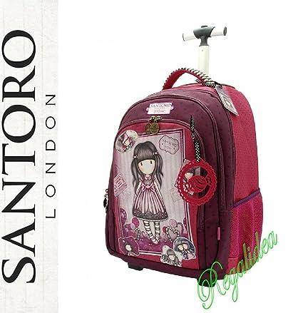 Carro mochila escolar Gorjuss Santoro London Fucsia Rosa 2017 y 2018