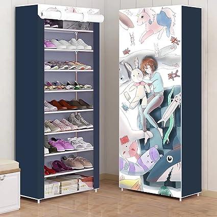 YZXJ Indoor Shoe Cabinet 9 Tier Shoe Rack Closet Shoes Storage Cabinet  Portable Boot Organizer