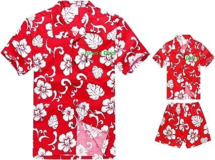 Simple Hibiscus Boys Hawaiian Shirts