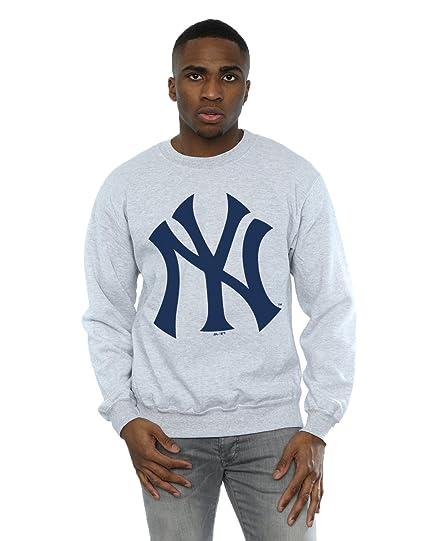 Majestic Uomo MLB New York Yankees Logo Felpa Medium Heather Grey  Amazon.it   Abbigliamento f5472b69042f