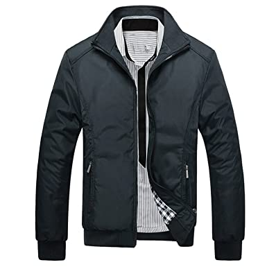 09dd68e6db1 Feroni Jacket Men Overcoat Casual Bomber Jackets Mens Outwear Coat Jaqueta  Masculina Veste Homme Brand Clothing