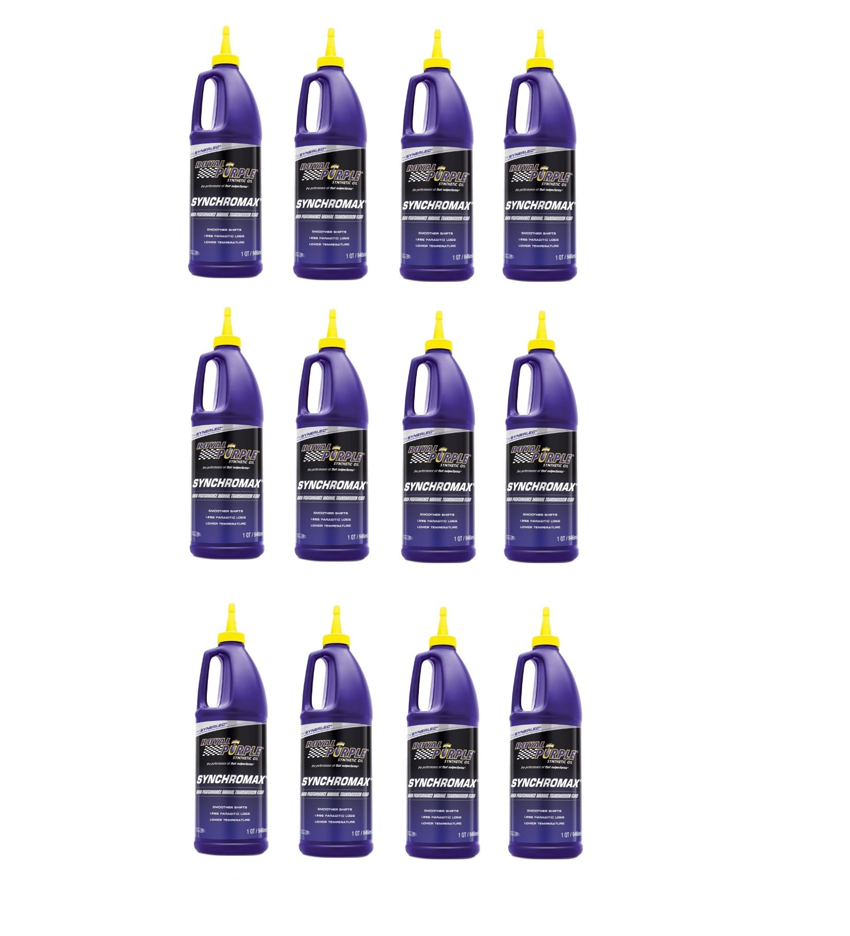 Royal Purple 12512 Synchromax High Performance Synthetic Manual Transmission Fluid - 1 qt. (Case of 12)