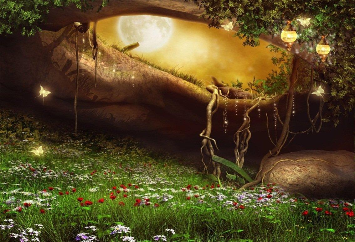 誠実 csfoto Full 7 x x 5ft WonderfulランドHugeツリー穴の背景写真バックドロップファンタジー世界Glowing 5ft Butterfly Full Moon美しいMeadowランプDreamy Spirit子フォトスタジオ小道具ビニール壁紙 B07D784M1Q, スカイラーク:7ece4c8d --- by.specpricep.ru