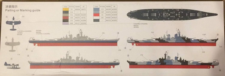 Amazon.com: 1/700 Blue Ridge Modelos USS Montana BB-67 ...