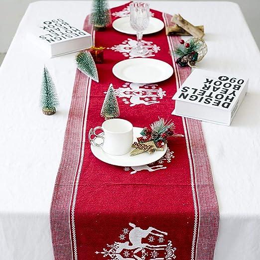 HELEVIA Camino de Mesa de Navidad, Navidad, Elk, Impreso, Camino ...