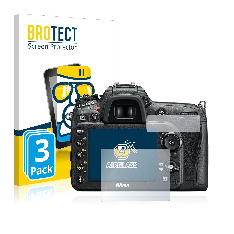 AirGlass Anti-Impronte Schermo Protezione Durezza 9H brotect Pellicola Protettiva Vetro Compatibile con Nikon D7200 3 Pezzi