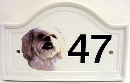 Número para puertas de caseta de perro Terranova, ...