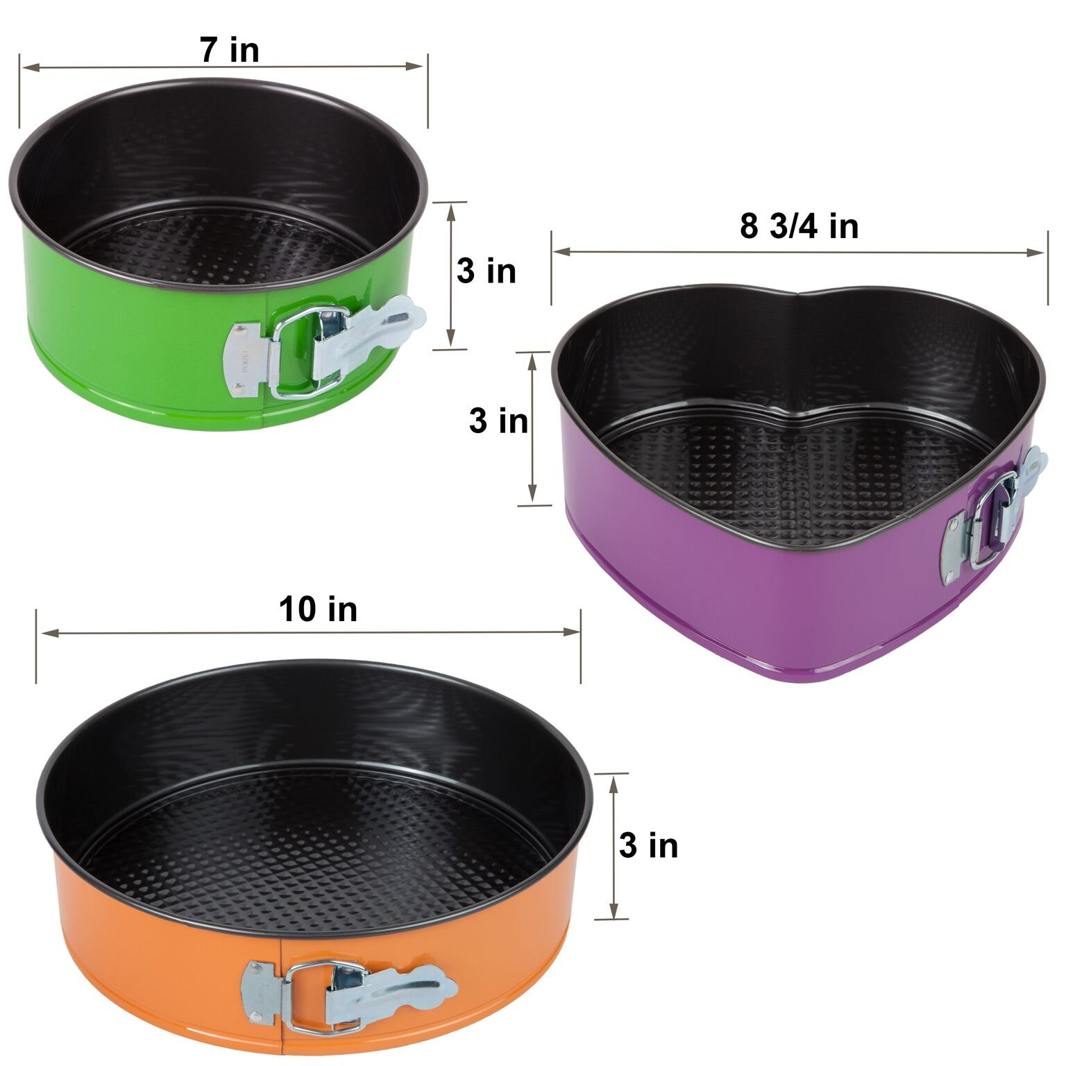 Trenton Gifts Set of 3 Springform Pans with 2 Round and 1 Heart Shaped by TRENTON (Image #6)